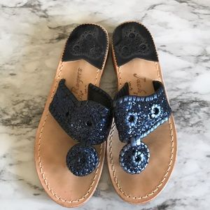 Jack Rogers Blue Sparkle Sandals - RARELY USED
